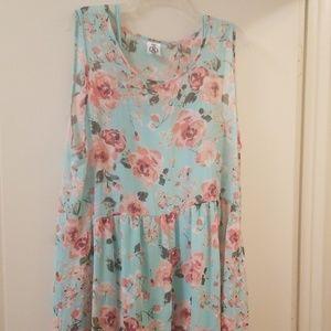 Agnes & Dora Maxi Dress mint & pink Rose's 3X